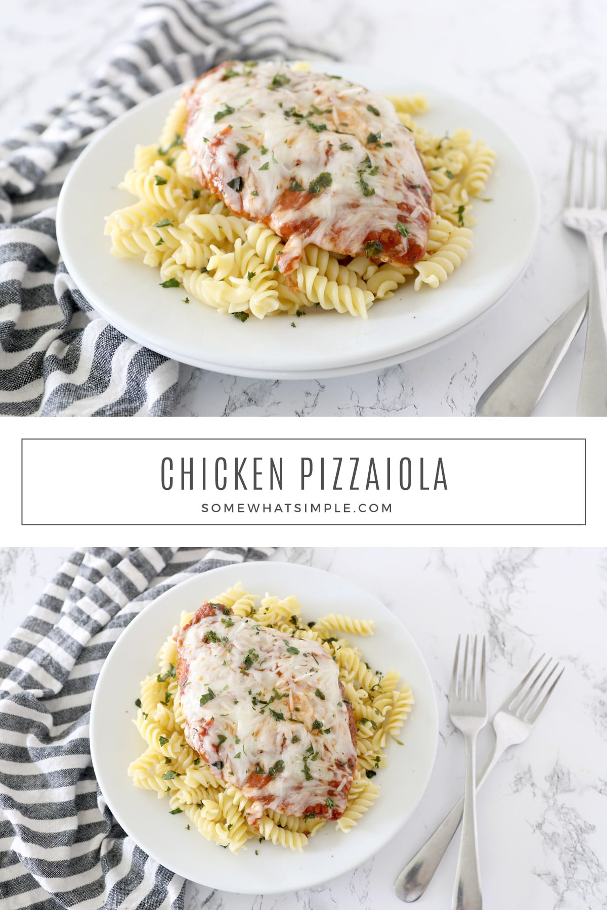 Chicken Pizzaiola is a classic Italian recipe that is popular for a reason! Its tried-and-true flavors are pure comfort, and it couldn't be any easier to make. via @somewhatsimple