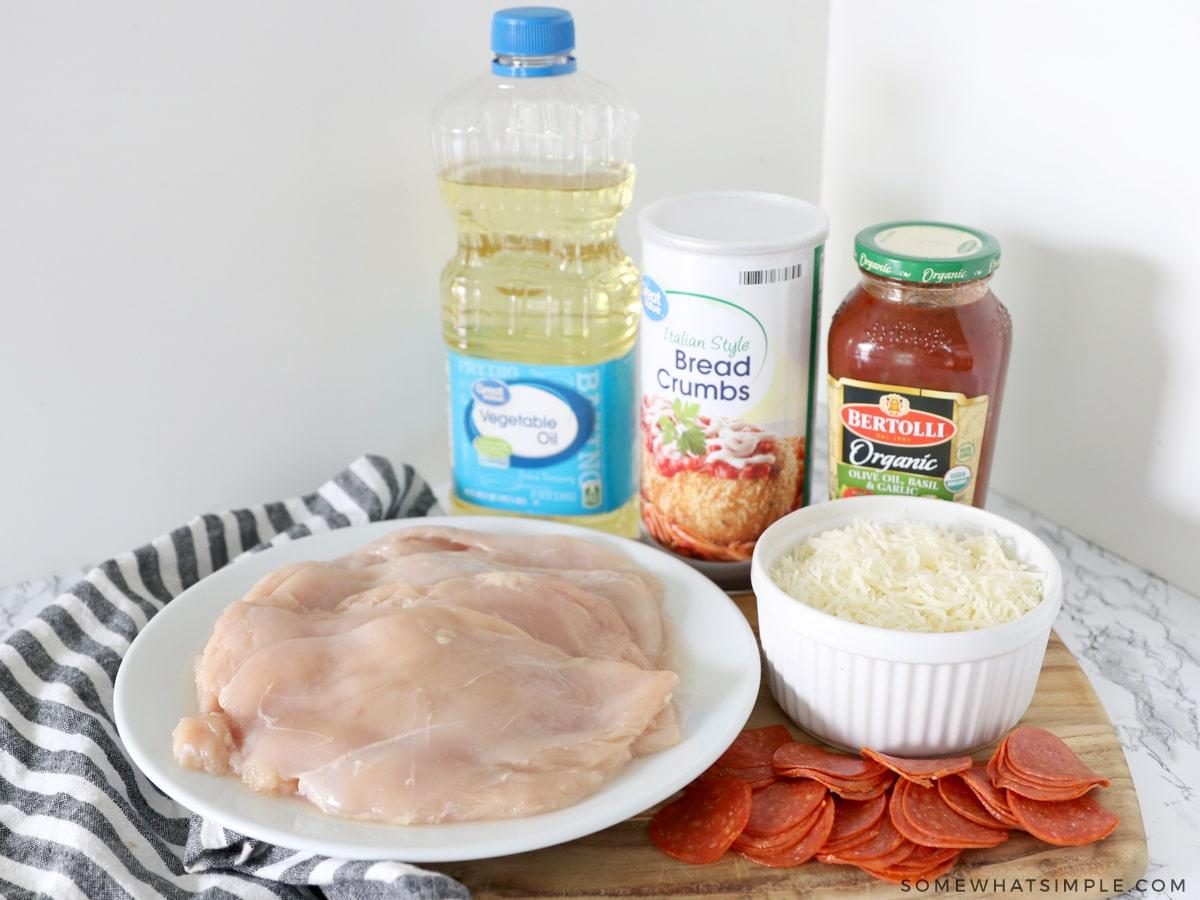 ingredients to make chicken pizzaiola