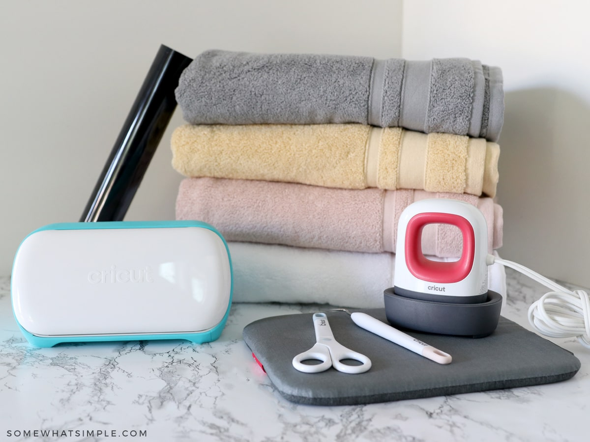 supplies needed for iron on towels