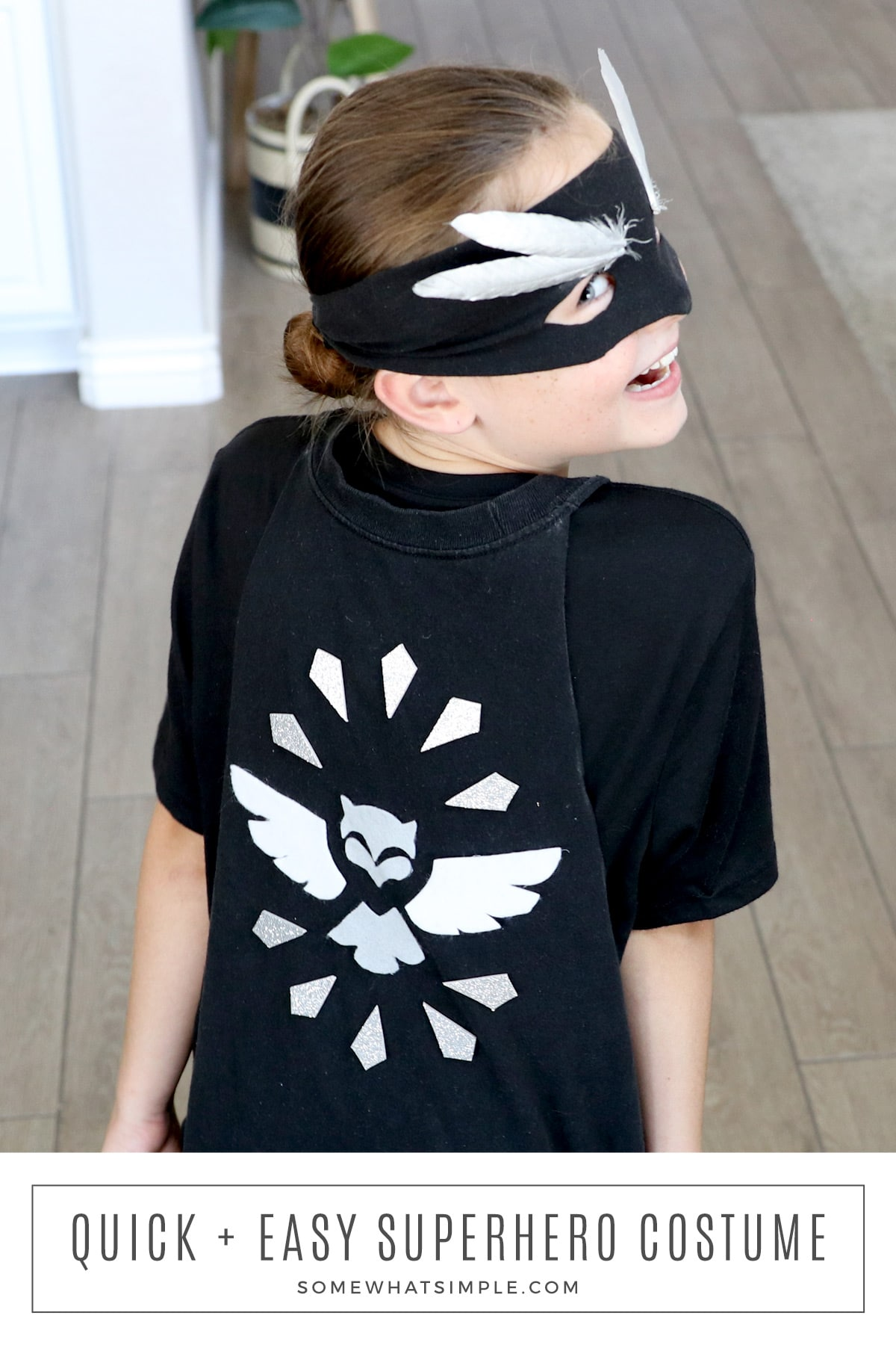 Get ready to save the world with a simple no-sew Kids Superhero Costume! This easy idea can be made in just minutes! via @somewhatsimple