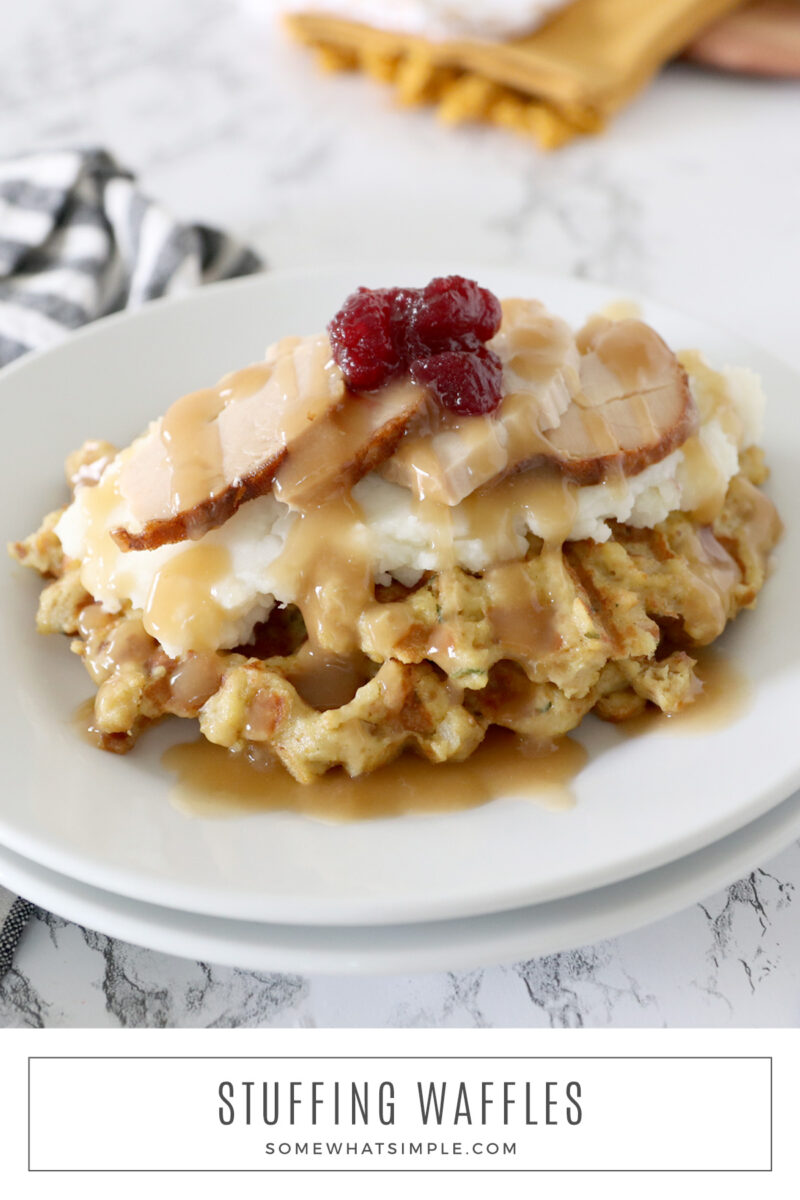 waffles made with leftover stuffing