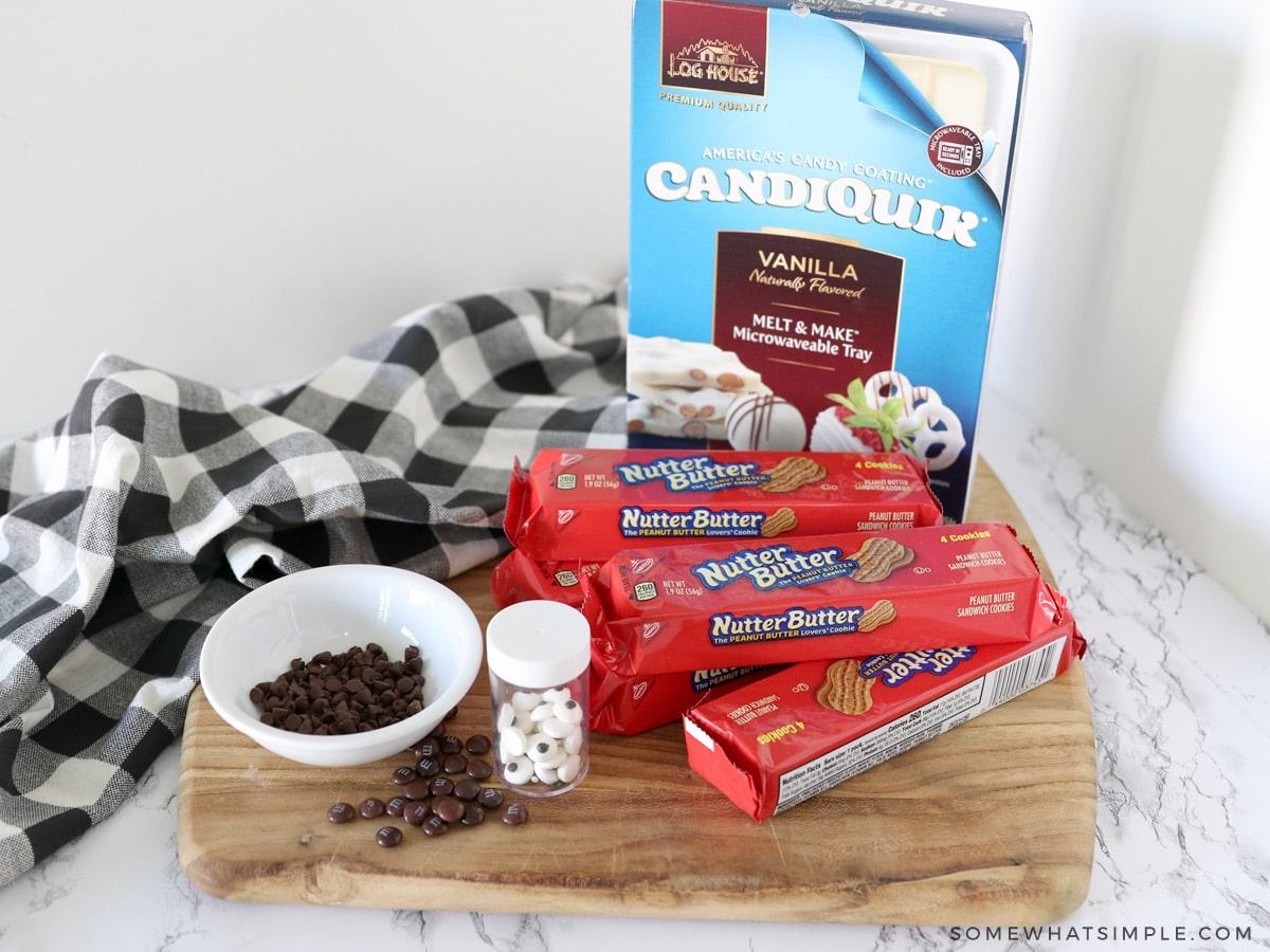 ingredients to make ghost cookies